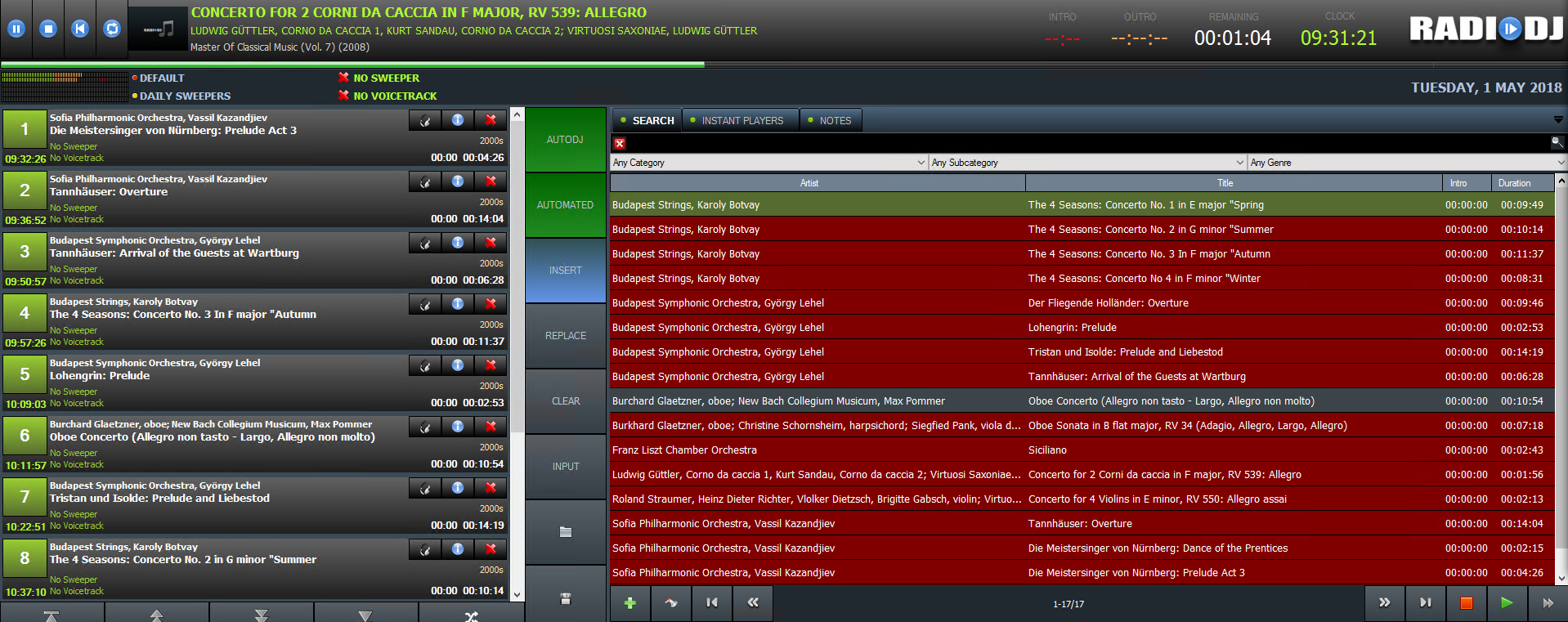 RadioDJ Playout and Automation system screenshot